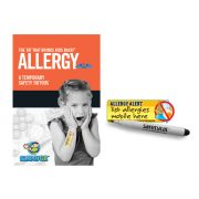 Peel and stick child safety tattoo ALLERGY