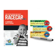 Peel and stick child safety tattoo RACECAR
