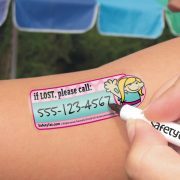 Peel and stick write-on tattoo